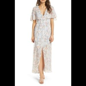 NWT Wayf Love Note Flutter Sleeve Maxi